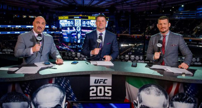 Jay Glazer at the UFC 205 desk in November 2016.