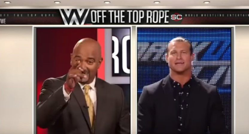 Jonathan Coachman's wrestling coverage on ESPN included this August 2017 interview with Dolph Ziggler.