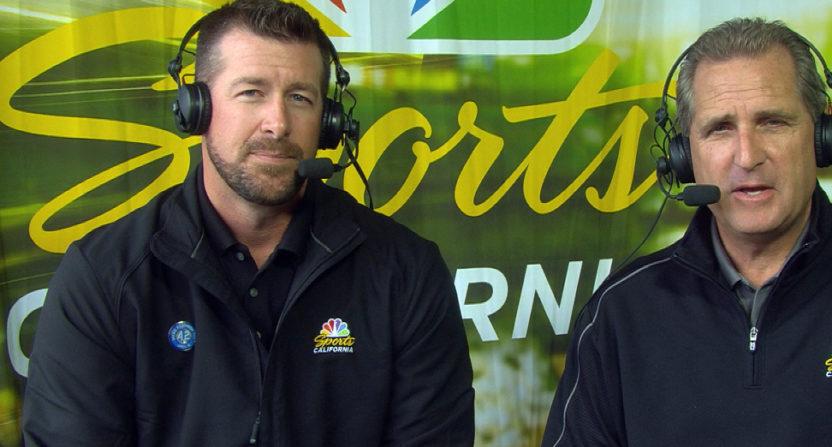 Mark Mulder (L) with Glen Kuiper.