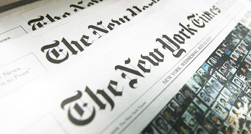 The New York Times and other newspapers could be impacted by an expected U.S. duty on imported newsprint.