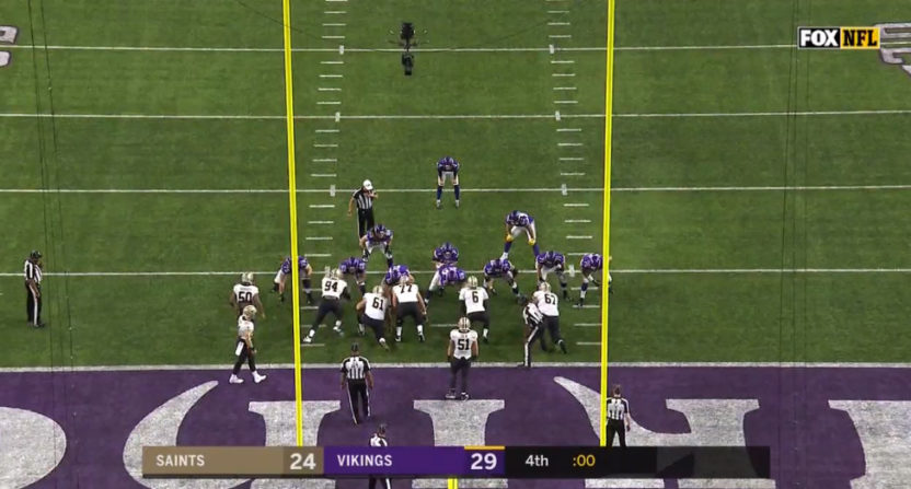 The Vikings didn't cover the spread thanks to kneeling for the game-ending XP.
