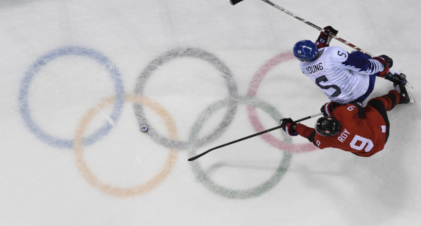 Olympics: Canadian hockey player pulls off silver medal at ceremony