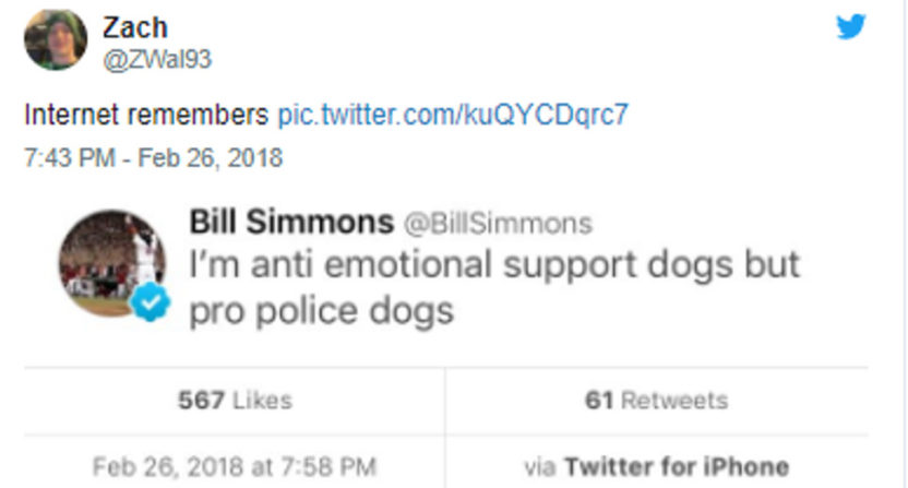 Bill Simmons' take on police dogs.