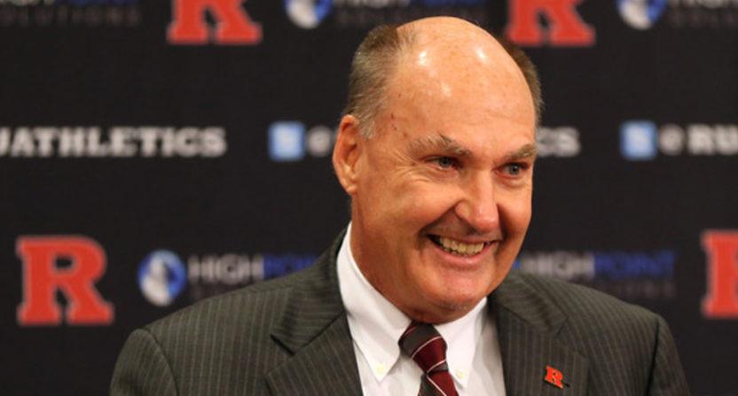 Jim Delaney welcomes Rutgers.