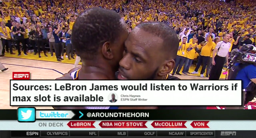 LeBron to the Warriors