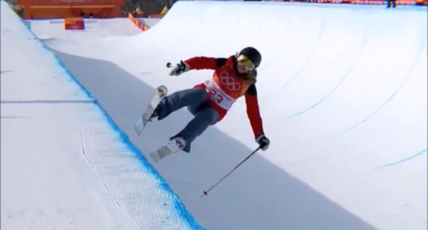 Skier performs zero tricks to finish last in halfpipe
