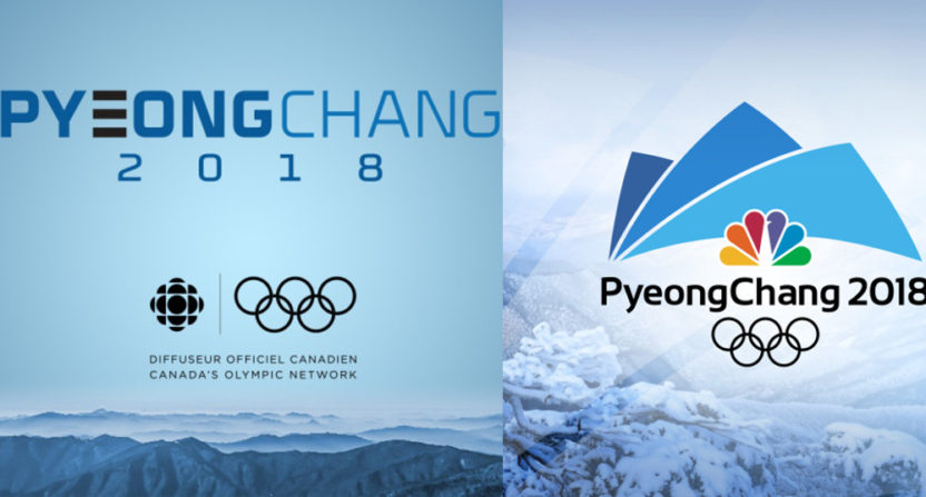 CBC Olympic ratings rose in PyeongChang, while NBC ratings fell.
