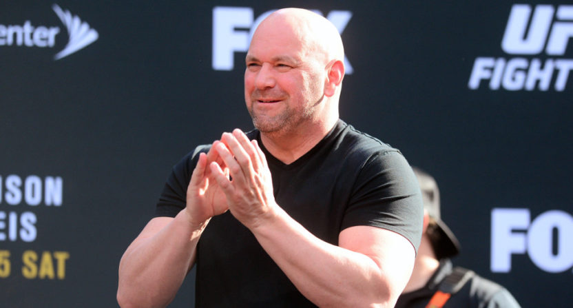 Dana White at an April 2017 UFC Fight Night event.