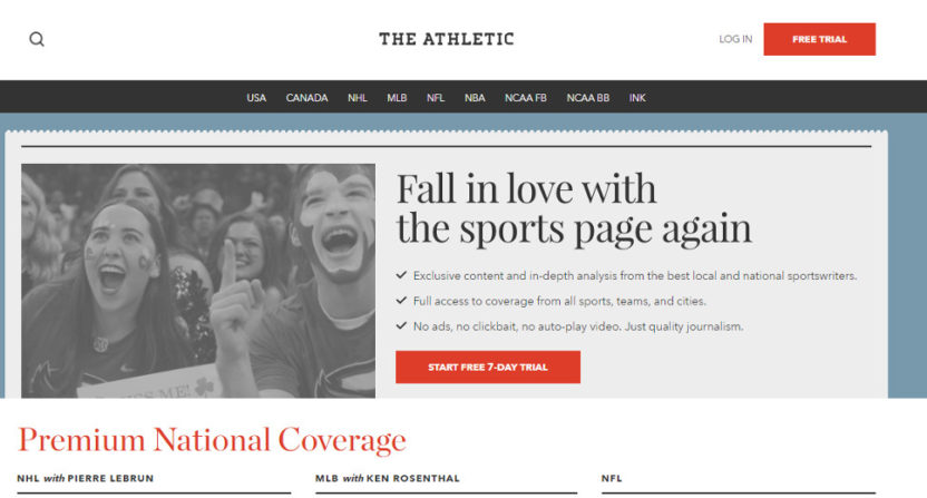 The Athletic on March 5, 2018.
