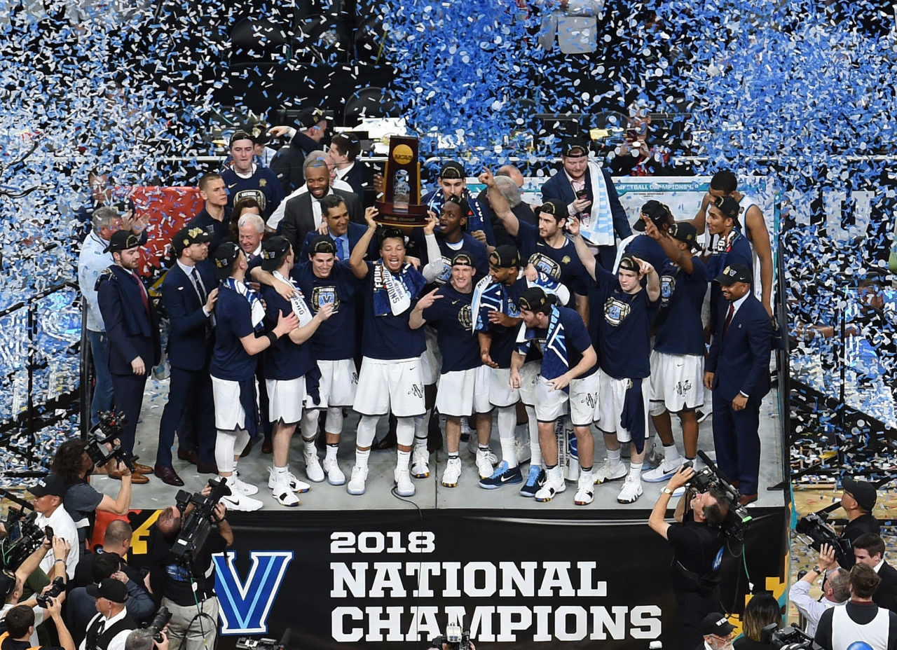 Image result for VILLANOVA WILDCATS 2018 NATIONAL CHAMPIONSHIP TROPHY