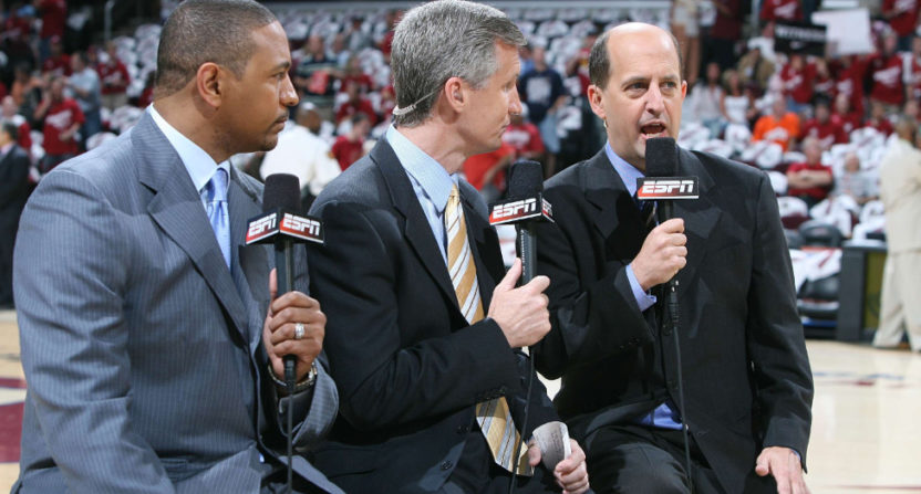 Mark Jackson, Mike Breen and Jeff Van Gundy.