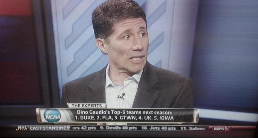 Dino Gaudio on ESPN in 2013.