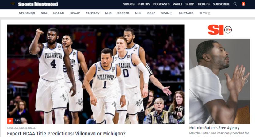 SI.com on April 2, 2018.
