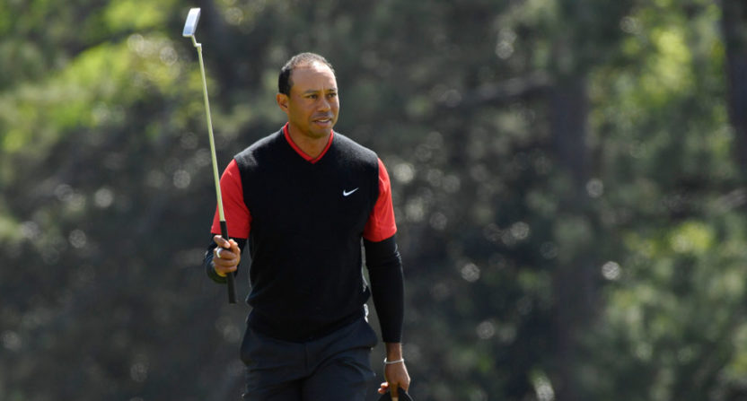 For Tiger Woods, a good round at this Masters is even par