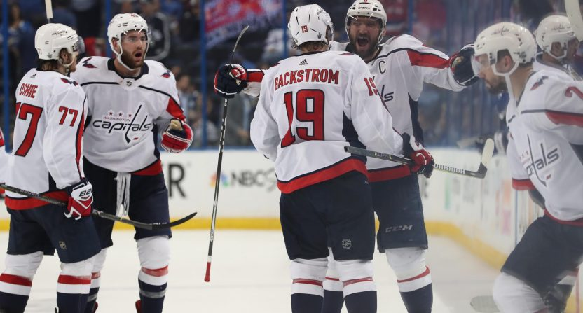Caps blank Lightning, return to finals after 20 years