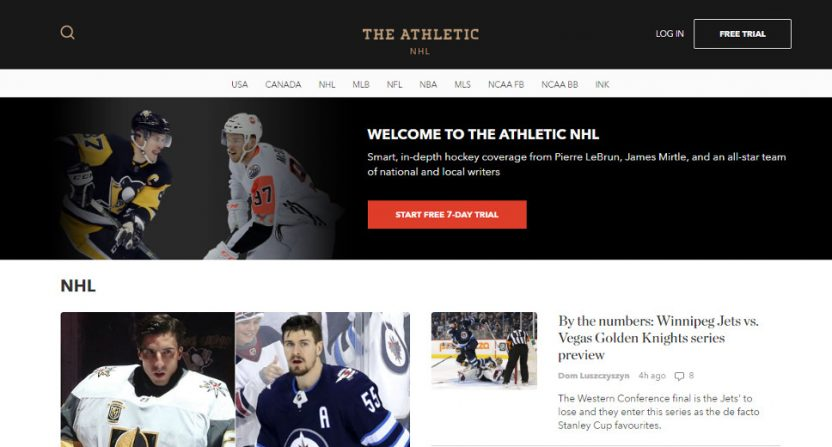 The Athletic's NHL page.