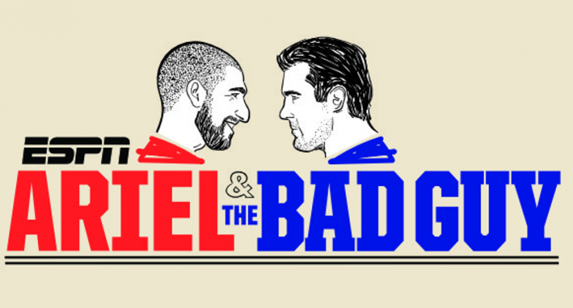 "Ariel Helwani's new ""Ariel & The Bad Guy"" show with Chael Sonnen is available now on ESPN+."