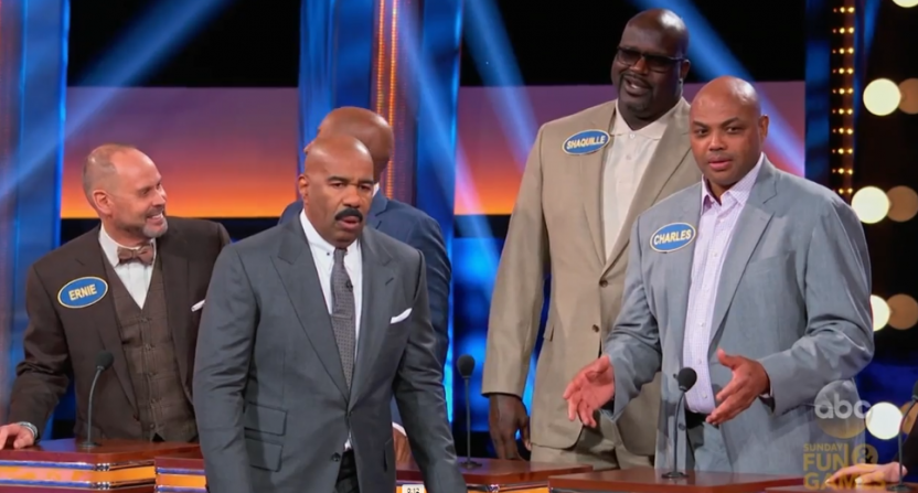Watch Charles Barkley's answer on 'Celebrity Family Feud' get stunned reactions