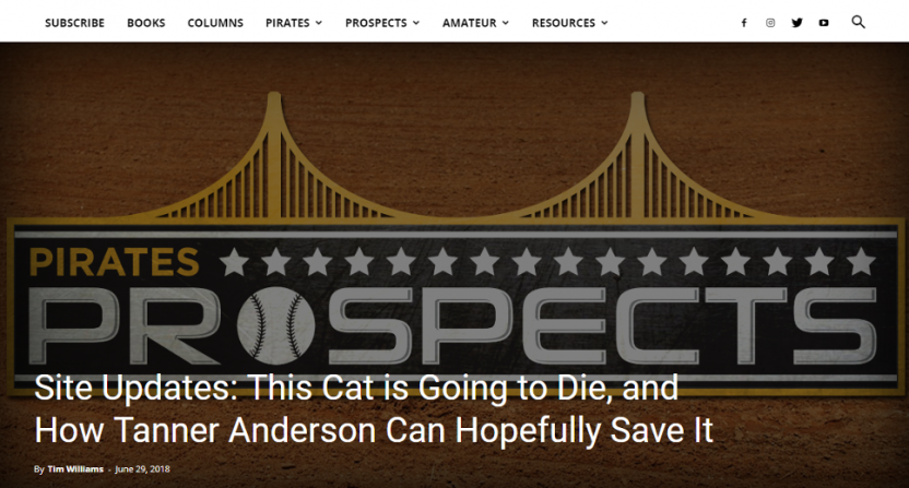 Subscription sites like Pirates Prospects are facing plenty of challenges.