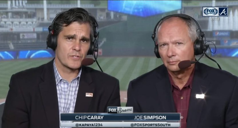 Chip Caray and Joe Simpson.
