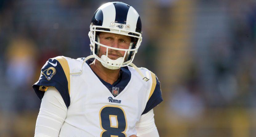 Dan Orlovsky with the Rams in the 2017 NFL preseason.