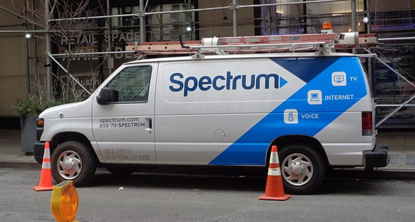 A Spectrum truck in New York.