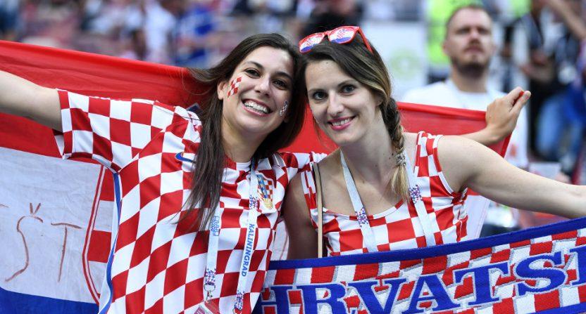 Croatia fans at the World Cup.