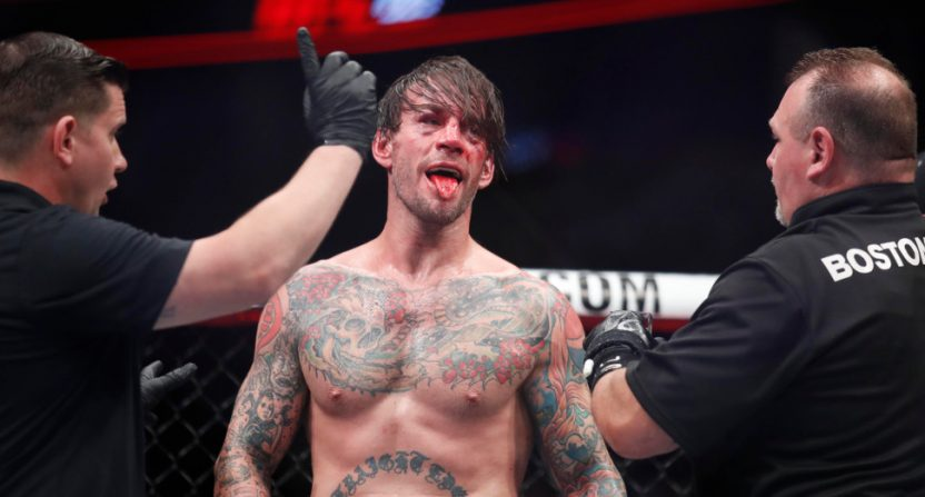 """CM Punk after his UFC 225 loss to Mike """"The Truth"""" Jackson."""
