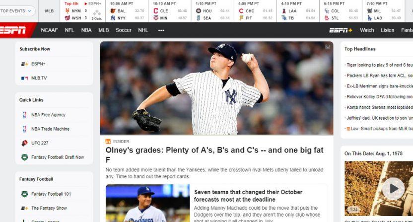 ESPN.com on Aug 1 at 1 p.m. Eastern.