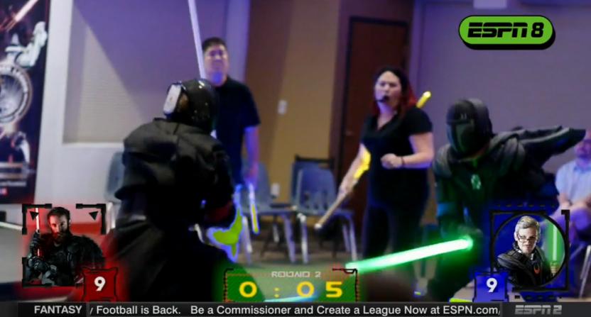 Lightsaber duels on ESPN.