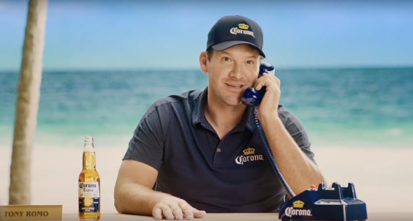 Tony Romo on the Corona hotline.