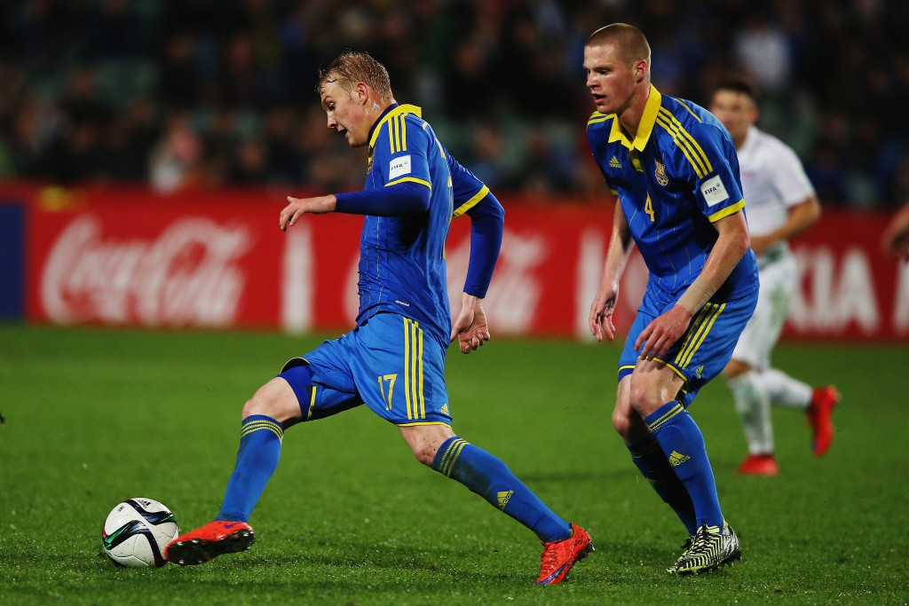 Viktor Kovalenko during the FIFA U-20 World Cup New Zealand 2015 Pool A match between Ukraine and the United States of America at North Harbour Stadium on June 5, 2015 in Auckland, New Zealand.