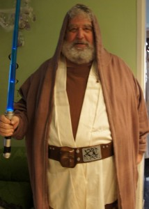 Chuck Blazer dressed as Obi-Wan Kenobi