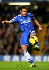 LONDON, ENGLAND - DECEMBER 29:  Cesar Azpilicueta of Chelsea clears the ball during the Barclays Premier League match between Chelsea and Liverpool at Stamford Bridge on December 29, 2013 in London, England.  (Photo by Julian Finney/Getty Images)