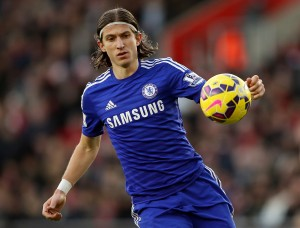 SOUTHAMPTON, ENGLAND - DECEMBER 28:  Felipe Luis of Chelsea during the Premier League match between Southampton and Chelsea at St Mary's Stadium on December 28, 2014 in Southampton, England.  (Photo by Scott Heavey/Getty Images)