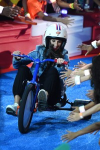 onstage at the Nickelodeon Kids' Choice Sports Awards 2015 at UCLA's Pauley Pavilion on July 16, 2015 in Westwood, California.