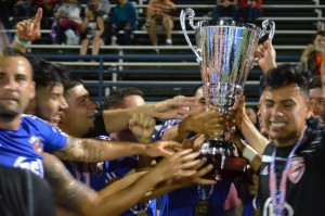 NPSL West Region Champions CD Aguiluchos USA. Photo by Ruben Dominguez.