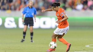 April 10, 2015. Carli Lloyd of the Houston Dash. Photo by NWSL.