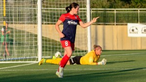 (August 14, 2015) – Diana Matheson and Michele Dalton look to push their teams to the cusp of clinching a spot in the NWSL Playoffs when the Washington Spirit and Chicago Red Stars meet on Sunday in a makeup match for a rained out game earlier in the season. Photo by NWSL.
