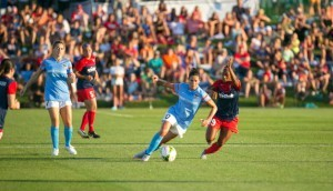 Crystal Dunn and Carli Lloyd. Photo by NWSL.