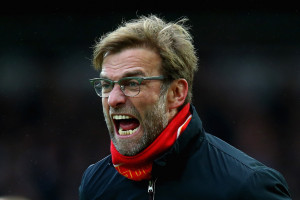 LONDON, ENGLAND - JANUARY 02:  Jurgen Klopp, manager of Liverpool reacts during the Barclays Premier League match between West Ham United and Liverpool at Boleyn Ground on January 2, 2016 in London, England.  (Photo by Clive Rose/Getty Images)