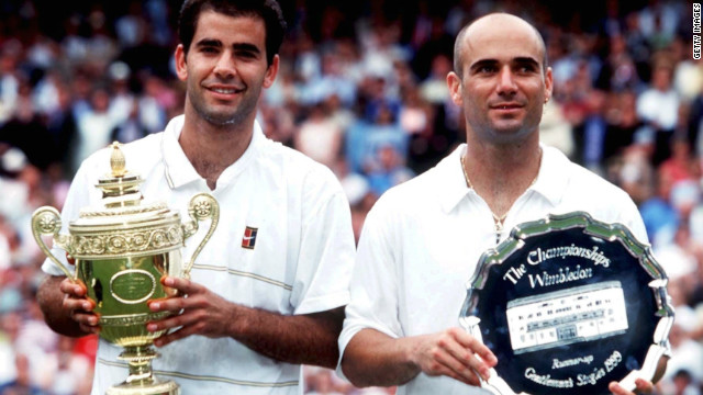 Pete Sampras will ultimately be remembered as a better player than Andre Agassi. The reason is simple: He won more of their meetings in major finals, especially at the  U.S. Open and, in 1999, at Wimbledon.