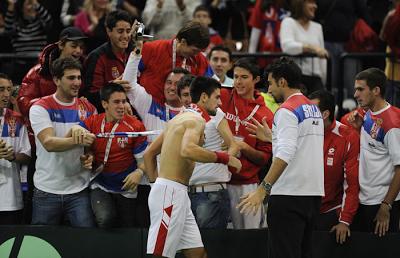 djokovic davis cup final win 2010 serbia
