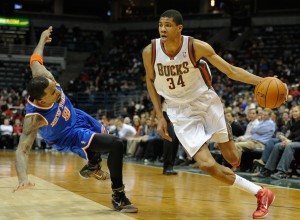Milwaukee's attempts to box Antetokounmpo as a point guard may back fire. Photo by Benny Sieu-USA TODAY Sports