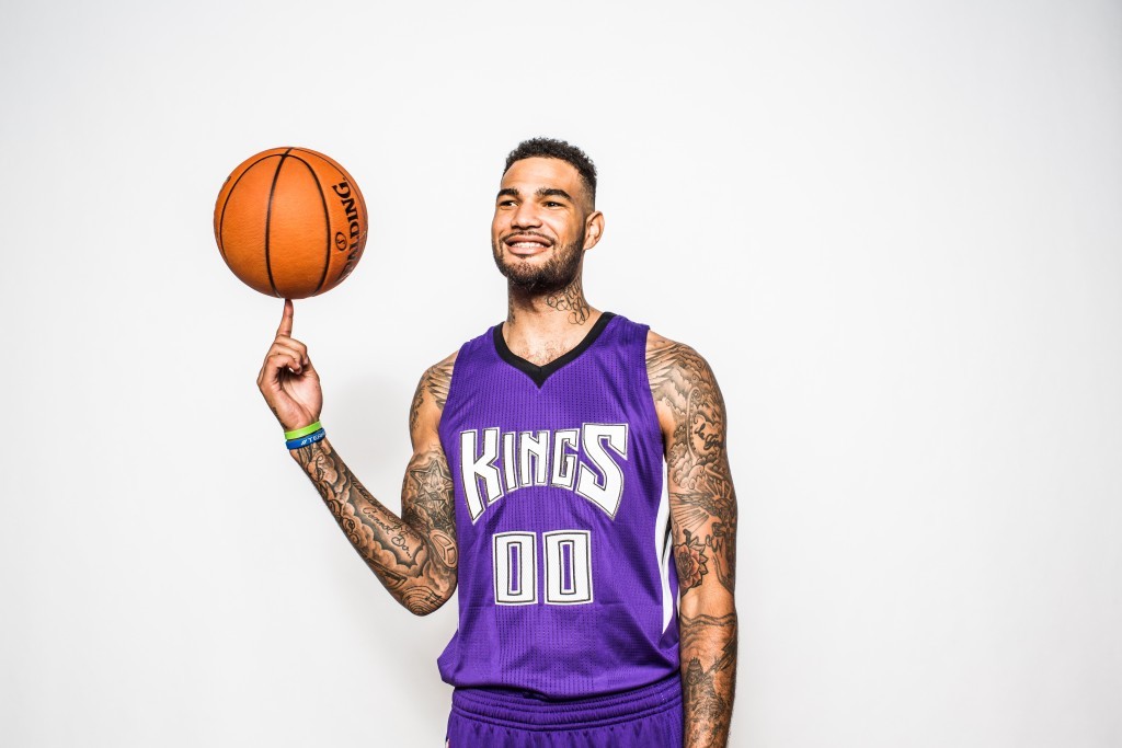 TARRYTOWN, NY - AUGUST 08:  Willie Cauley-Stein #00 of the Sacramento Kings poses for a portrait during the 2015 NBA rookie photo shoot on August 8, 2015 at the Madison Square Garden Training Facility in Tarrytown, New York. NOTE TO USER: User expressly acknowledges and agrees that, by downloading and or using this photograph, User is consenting to the terms and conditions of the Getty Images License Agreement.   (Photo by Nick Laham/Getty Images)
