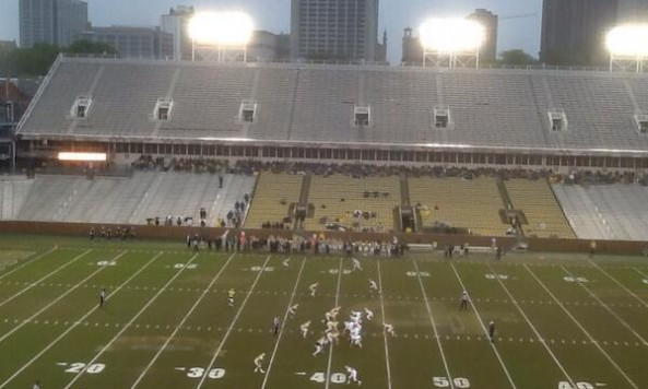 117 Fans Attended Georgia Tech S Spring Game The Comeback