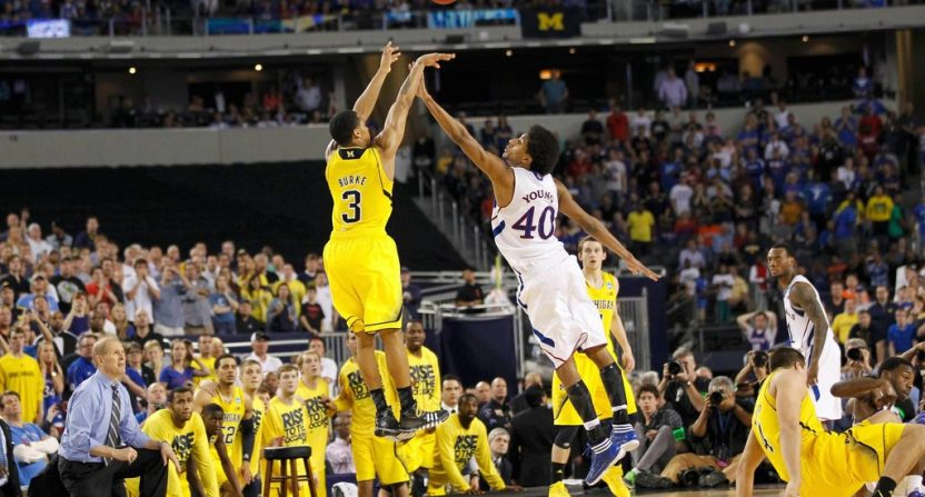 Michigan Kansas Trey Burke shot