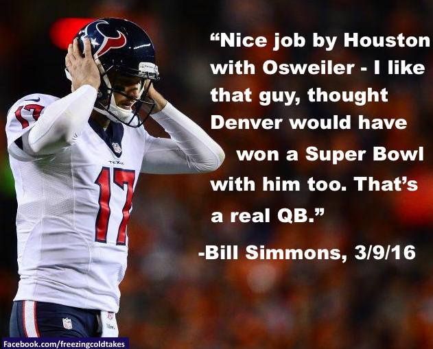 e1bead46d Here are some of the few who really liked the Texans move to sign Brock  Osweiler
