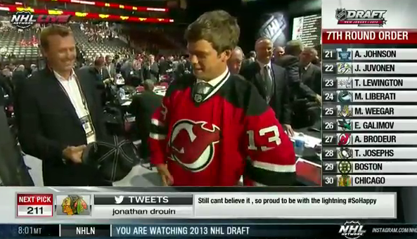 Martin Brodeur Drafts Son Anthony For New Jersey Devils Puck Drunk