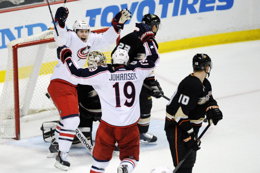 NHL: Columbus Blue Jackets at Anaheim Ducks